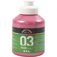 Skole akrylmaling metallic, metallic, light red, 500 ml/ 1 bottle