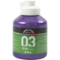 Skole akrylmaling metallic, metallic, violet, 500 ml/ 1 bottle