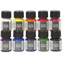 Glass Ceramic , assorted colours, 10x35 ml/ 1 pack