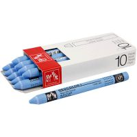 Neocolor I Crayons, L: 10 cm, thickness 8 mm, light blue (161), 10 pc/ 1 pack