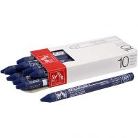 Neocolor I Crayons, L: 10 cm, thickness 8 mm, prussian blue (159), 10 pc/ 1 pack