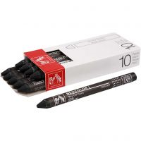Neocolor I Crayons, L: 10 cm, thickness 8 mm, black (009), 10 pc/ 1 pack