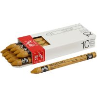 Neocolor I Crayons, L: 10 cm, thickness 8 mm, ochre (035), 10 pc/ 1 pack