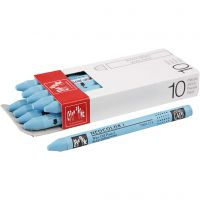 Neocolor I Crayons, L: 10 cm, thickness 8 mm, turquoise blue (171), 10 pc/ 1 pack