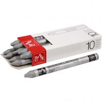Neocolor I Crayons, L: 10 cm, thickness 8 mm, silver (498), 10 pc/ 1 pack