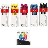 Neocolor II, L: 10 cm, 5x10 pc/ 1 pack