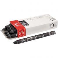 Neocolor II, L: 10 cm, black (009), 10 pc/ 1 pack