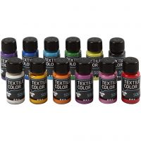 Textile Solid, opaque, assorted colours, 12x50 ml/ 1 pack