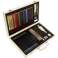 Sketch and drawing set, assorted colours, 1 pc/ 1 pack