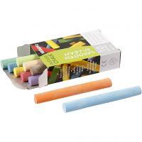 Chalkboard Chalk, L: 8 cm, D: 10 mm, 10x10 pc/ 1 pack