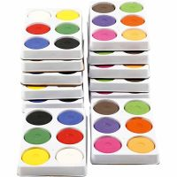 Watercolour, H: 19 mm, D: 57 mm, primary red, additional colours, 12 trays/ 1 pack