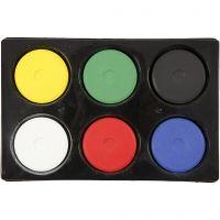 Watercolour, H: 19 mm, D: 57 mm, primary colours, 1 set