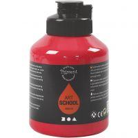 Pigment Art School Paint, semi-transparent, primary red, 500 ml/ 1 bottle