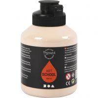 Pigment Art School Paint, opaque, light beige, 500 ml/ 1 bottle