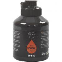 Pigment Art School Paint, opaque, black, 500 ml/ 1 bottle