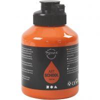 Pigment Art School Paint, semi-transparent, orange, 500 ml/ 1 bottle