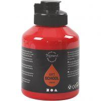 Pigment Art School Paint, transparent, cadmium red, 500 ml/ 1 bottle