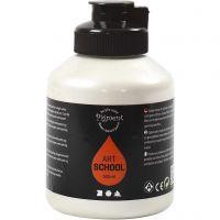 Pigment Art School Paint, opaque, pearl silver, 500 ml/ 1 bottle
