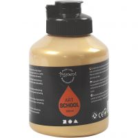 Pigment Art School Paint, opaque, gold, 500 ml/ 1 bottle