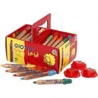 Colouring Pencils, L: 10,5 cm, D: 13 mm, lead 6 mm, assorted colours, 36 pc/ 1 pack