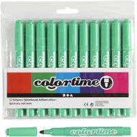 Colortime Marker, line 5 mm, light green, 12 pc/ 1 pack