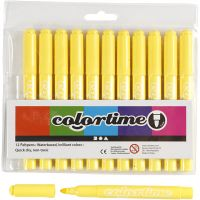 Colortime Marker, line 5 mm, lemon yellow, 12 pc/ 1 pack