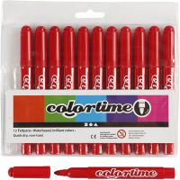 Colortime Marker, line 5 mm, red, 12 pc/ 1 pack
