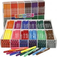 Colortime Marker, line 5 mm, assorted colours, 576 pc/ 1 pack