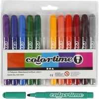 Colortime Marker, line 5 mm, additional colours, 12 pc/ 1 pack