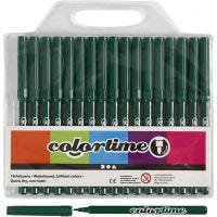 Colortime Marker, line 2 mm, dark green, 18 pc/ 1 pack