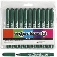 Colortime Marker, line 5 mm, green, 12 pc/ 1 pack