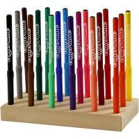 Colortime Marker, line 2 mm, assorted colours, 18 pc/ 1 pack