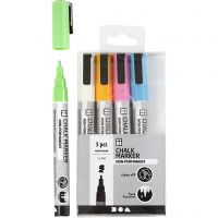 Chalk markers, line 1,2-3 mm, bold colours, 5 pc/ 1 pack