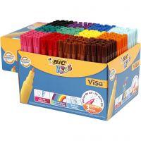 Visa Fine Marker, line 1,6 mm, assorted colours, 12x24 pc/ 1 pack