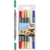 Marker, line 2,3+3,6 mm, assorted colours, 6 pc/ 1 pack