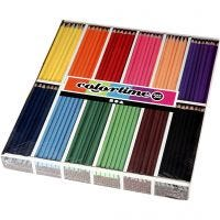 Colortime colouring pencils, L: 17,45 cm, lead 3 mm, assorted colours, 12x24 pc/ 1 pack