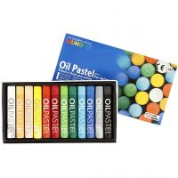 Mungyo Oil Pastel, L: 7 cm, thickness 11 mm, assorted colours, 12 pc/ 1 pack