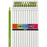Colortime colouring pencils, L: 17,45 cm, lead 5 mm, JUMBO, light green, 12 pc/ 1 pack