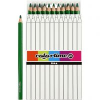 Colortime colouring pencils, L: 17,45 cm, lead 5 mm, JUMBO, green, 12 pc/ 1 pack