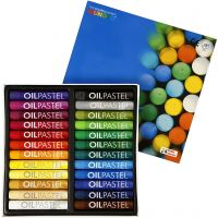 Mungyo Oil Pastel, L: 7 cm, thickness 11 mm, assorted colours, 24 pc/ 1 pack
