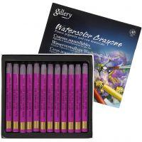 Watercolor Crayons, L: 9,3 cm, cris crimson lake (314), 12 pc/ 1 pack