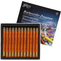 Watercolor Crayons, L: 9,3 cm, burnt umber (328), 12 pc/ 1 pack