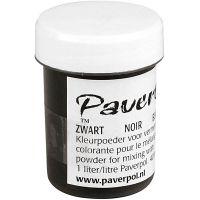 Pavercolor, black, 40 ml/ 1 tub
