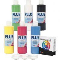 Plus Color Craft Paint, primary colours, 6x250 ml/ 1 pack