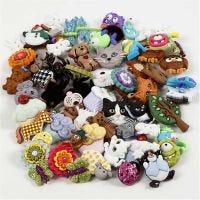 Novelty Buttons, D: 15-45 mm, 19 pack/ 1 pack
