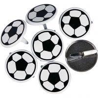 Deco Rivets, Footballs, D: 20 mm, 30 pc/ 1 pack