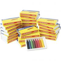 Oil Crayons, assorted colours, 25x9 pc/ 1 pack