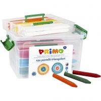 PRIMO wax crayons, assorted colours, 12x12 pc/ 1 pack