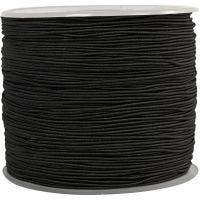 Elastic Beading Cord, thickness 1 mm, black, 250 m/ 1 roll