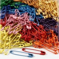Safety Pins, L: 34 mm, thickness 0,8-1,00 mm, 10x100 pc/ 1 pack